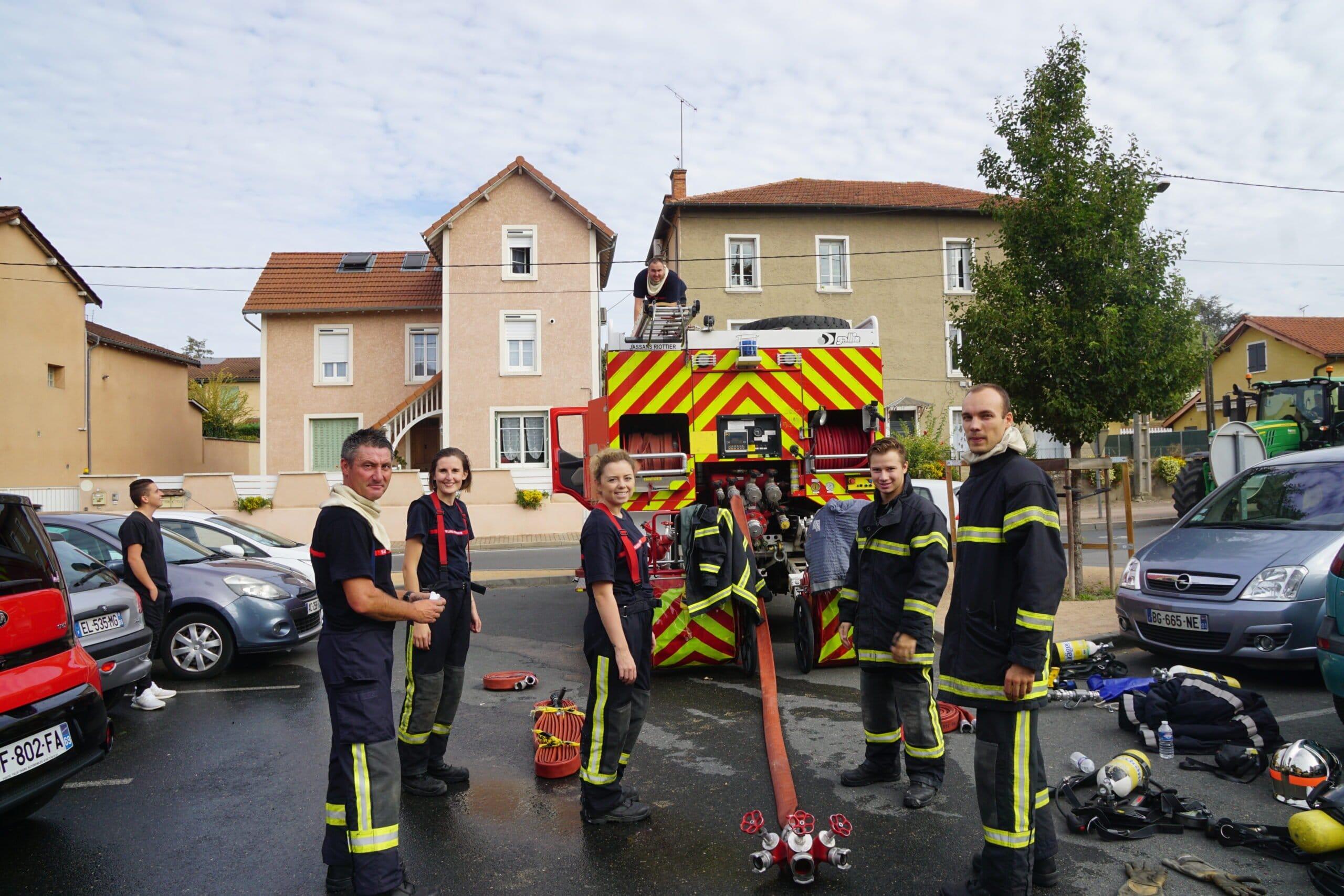 pompiers manoeuvre en centre ville