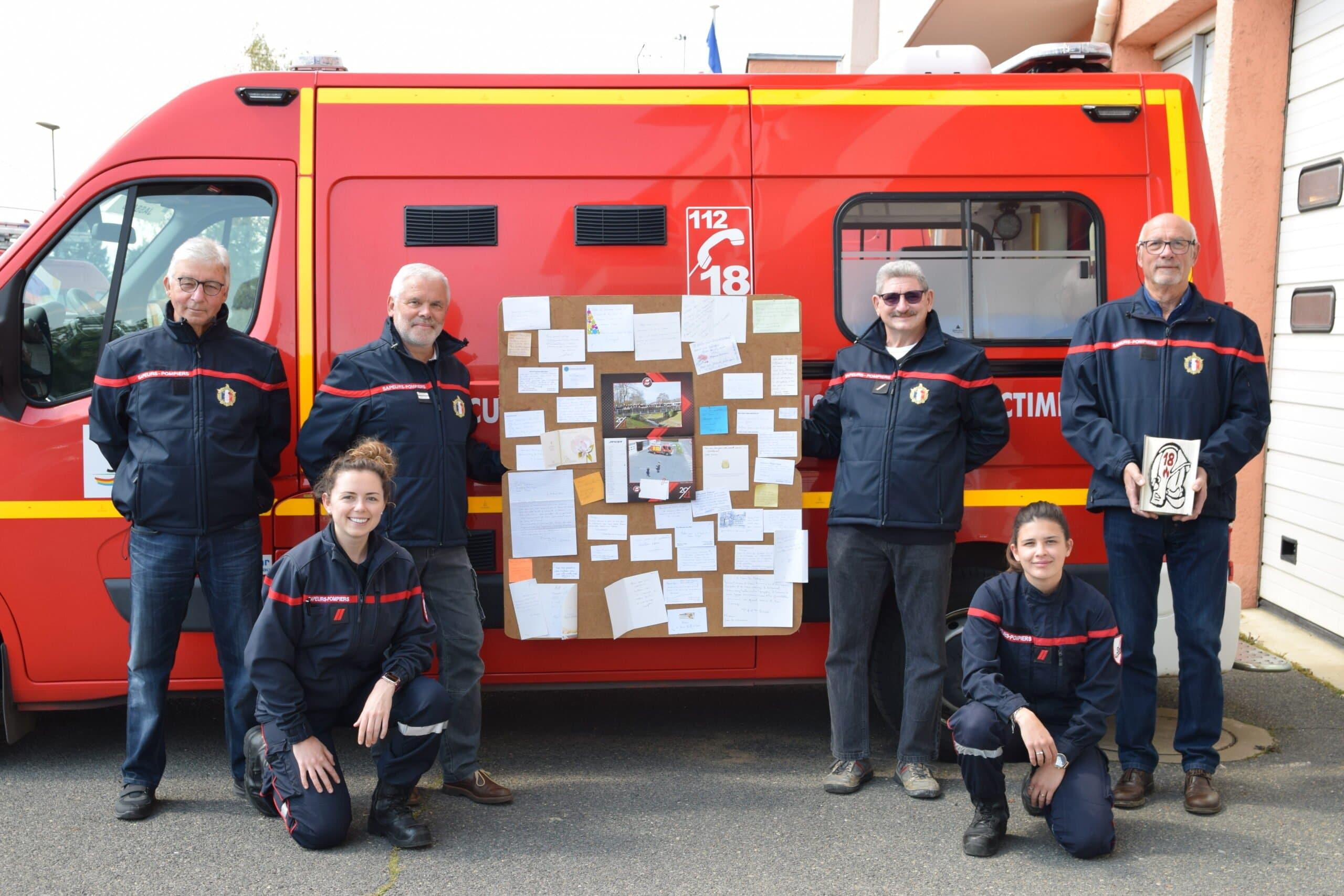 pompiers remerciements calendriers