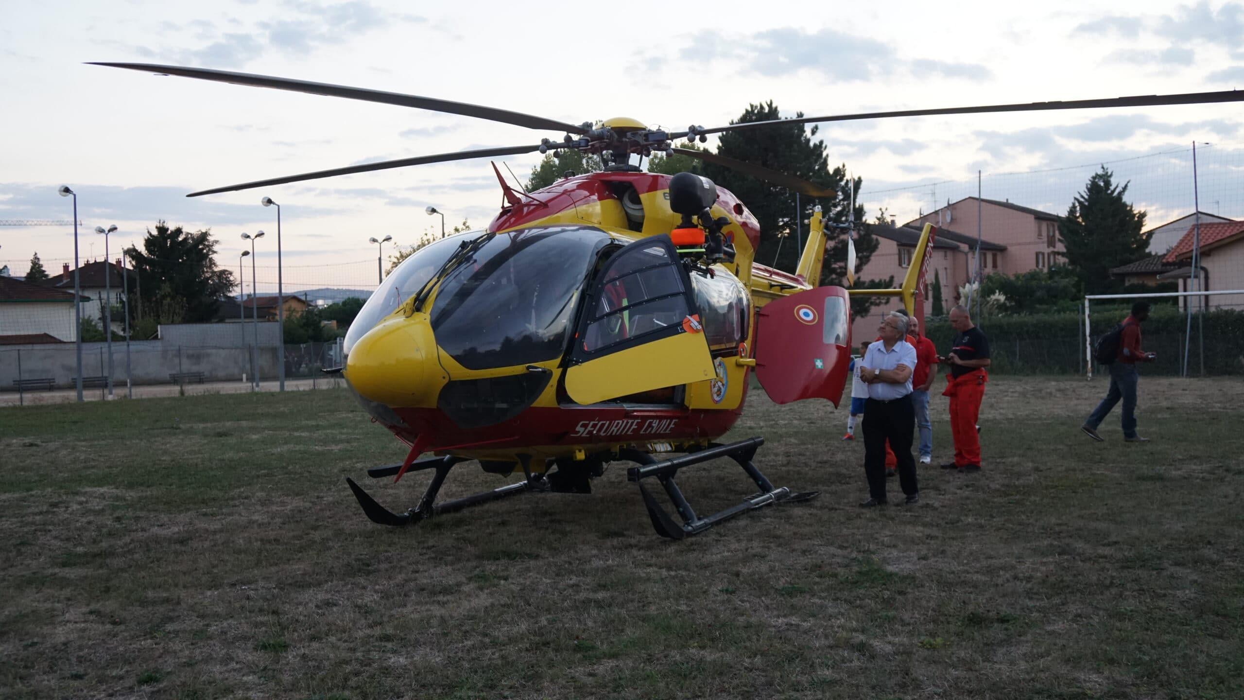 Sauvetage par hélicoptère du SDIS
